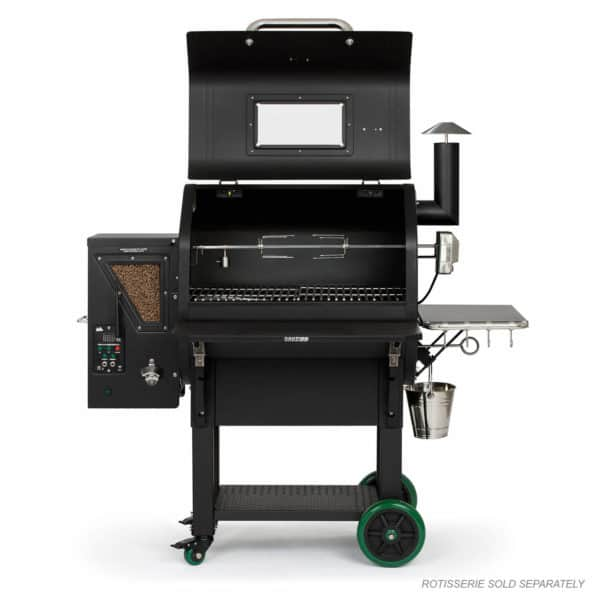 Daniel Boone Prime Plus with hood open and rotisserie (not included)