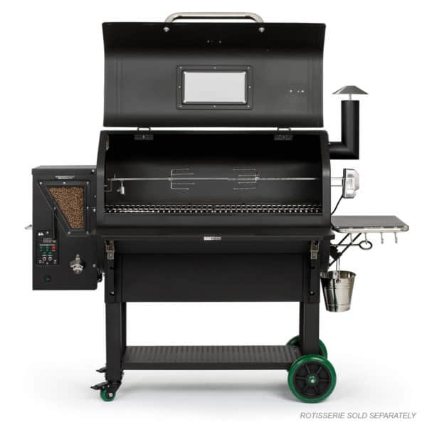 Jim Bowie Prime Plus with hood open and rotisserie (not included)