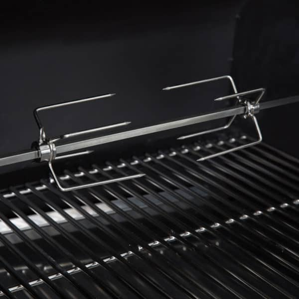 GMG Rotisserie Kit for Daniel Boone Prime Plus in the grill